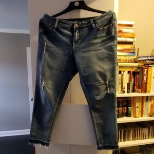 New direction distressed jeans